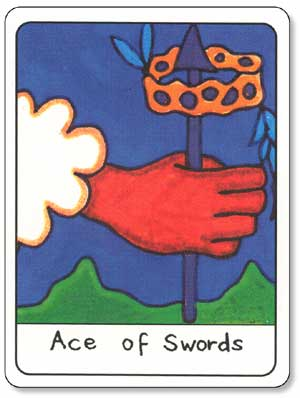 African Tarot Ace of Swords Card