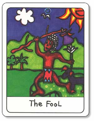 African Tarot Fool Card