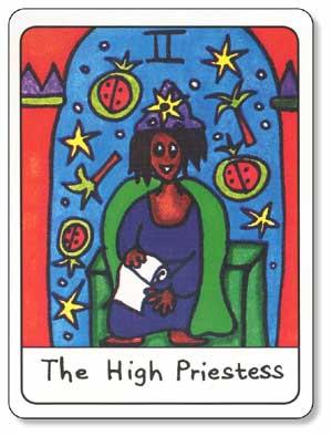 African Tarot High Priestess Card