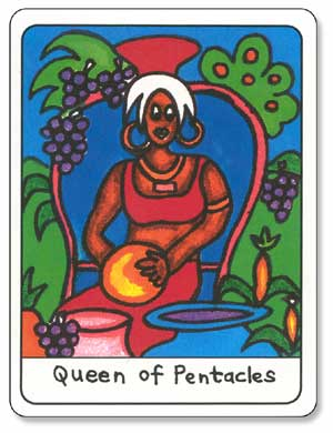 African Tarot Queen of Pentacles
