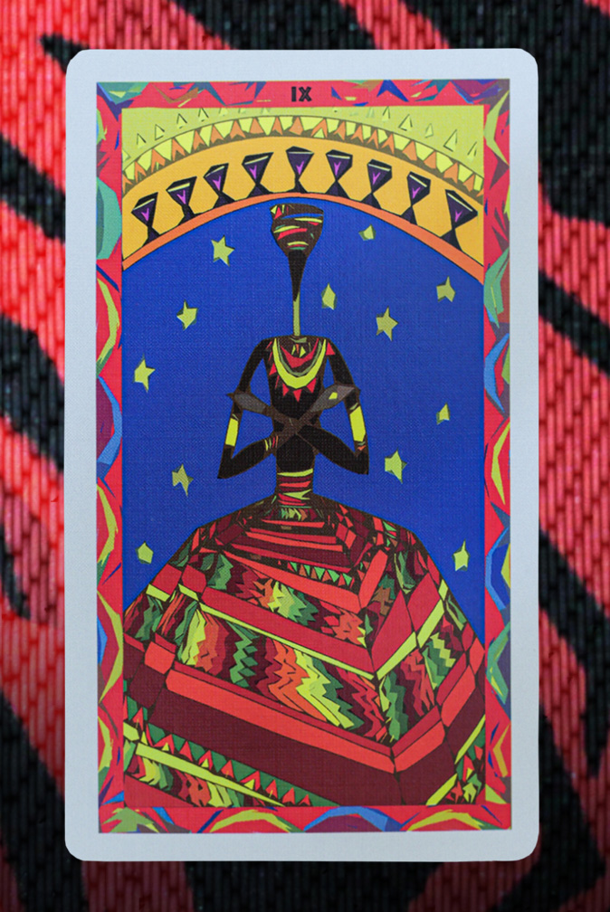 African Tarot 9 of Cups