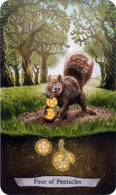 Animal Totem Tarot 4 of Pentacles