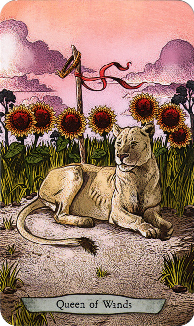 Animal Totem Tarot Queen of Wands