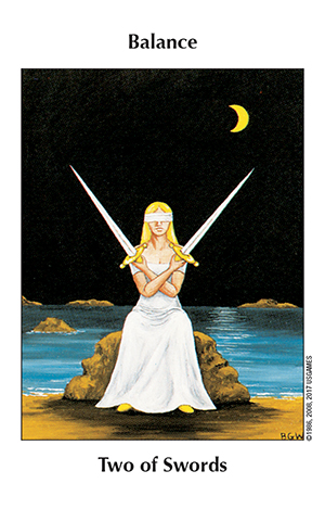 Barbara Walker Tarot 2 of Swords Card