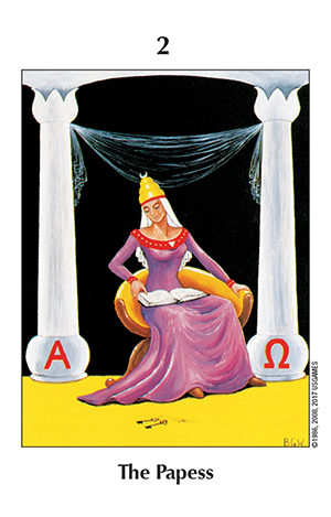 Barbara Walker Tarot Papess Card