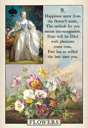 Blue Bird Lenormand Flower Card