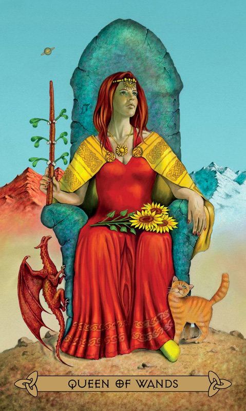 Celtic Tarot Queen of Wands