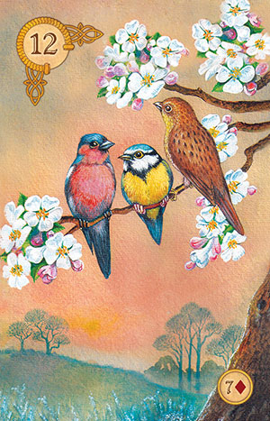 Celtic Lenormand Birds Card