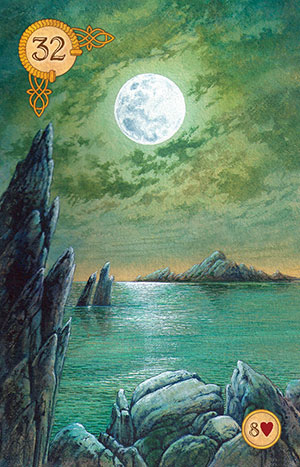 Celtic Lenormand Moon Card