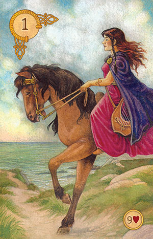 Celtic Lenormand Rider Card