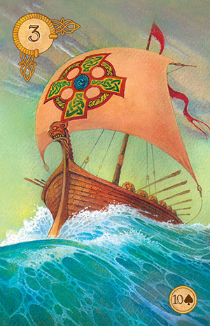 Celtic Lenormand Ship Card