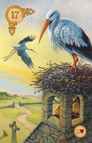 Celtic Lenormand Stork Card