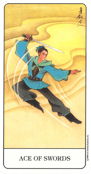 Chinese Tarot Ace of Swords