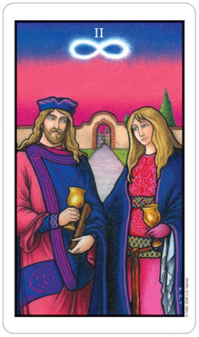 Connolly Tarot 2 of Cups Card