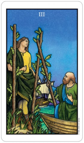 Connolly Tarot Three of Wands Card