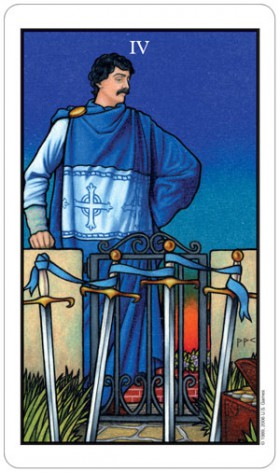 Connolly Tarot Four of Swords Card
