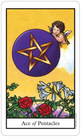 Connolly Tarot Ace of Pentacles Card
