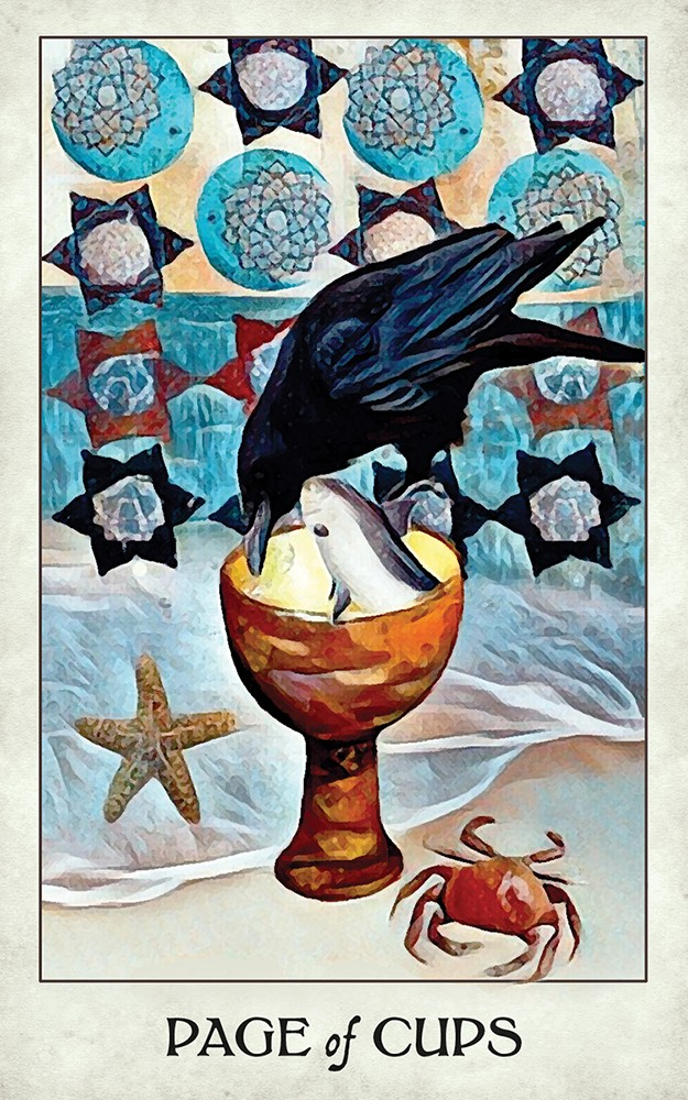 The Crow Tarot Page of Cups Card