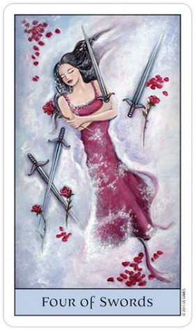 Crystal Visions Tarot 4 of Swords