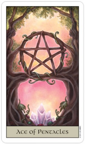 Crystal Visions Tarot Ace of Pentacles