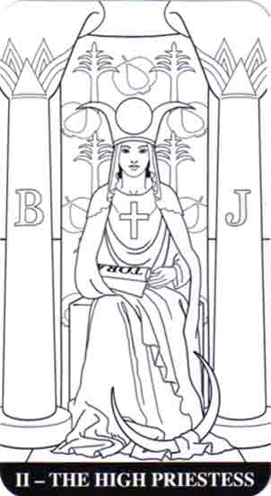 Color Your Tarot High Priestess Card