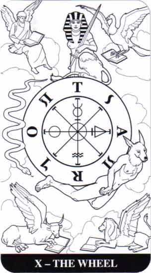 Color Your Tarot Wheel Card
