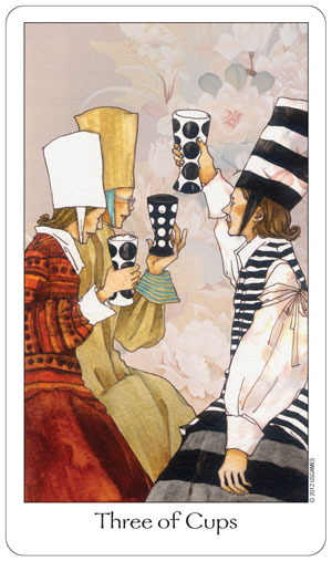 Dreaming Way Tarot 3 of Cups Card