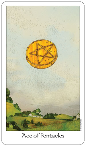 Dreaming Way Tarot Ace of Pentacles Card