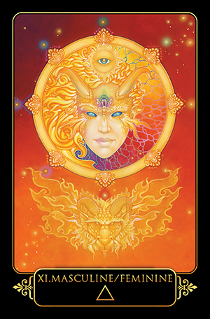 Dreams of Gaia Tarot Masculine Feminine Card