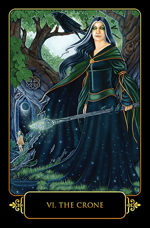 Dreams of Gaia Tarot Crone Card