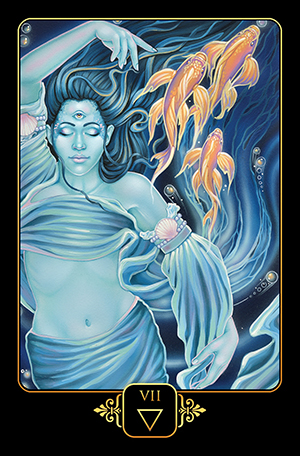 Dreams of Gaia Tarot 7 of Water Card