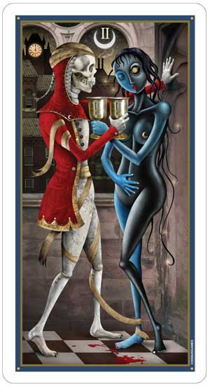 Deviant Moon Tarot 2 of Cups