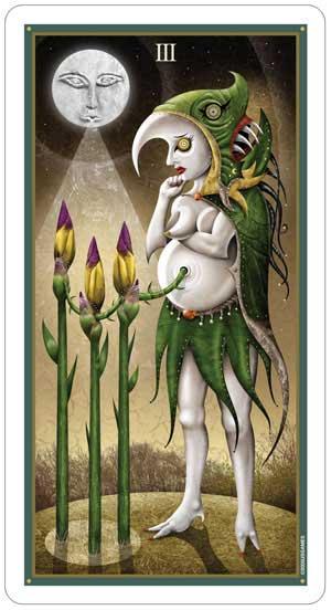 Deviant Moon Tarot 3 of Wands