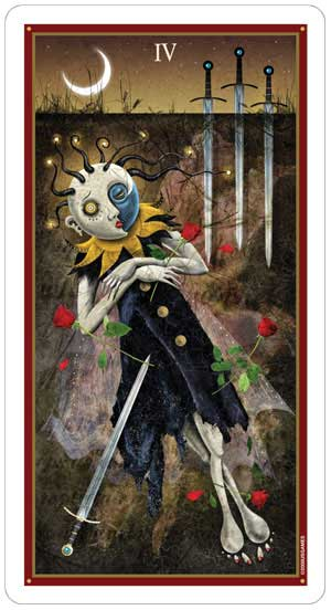 Deviant Moon Tarot 4 of Swords