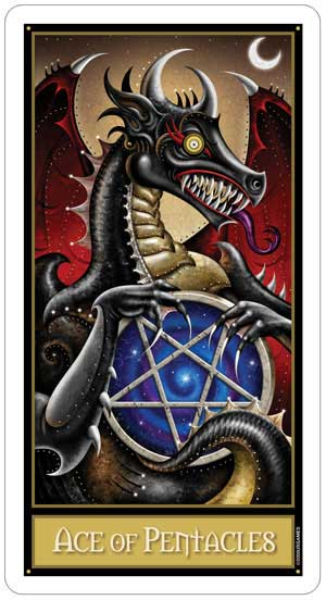 Deviant Moon Tarot Ace of Pentacles