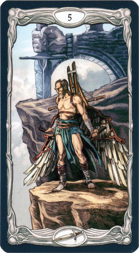 Epic Tarot 5 Swords