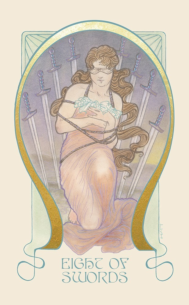 The Ethereal Visions Tarot 8 of Swords Card