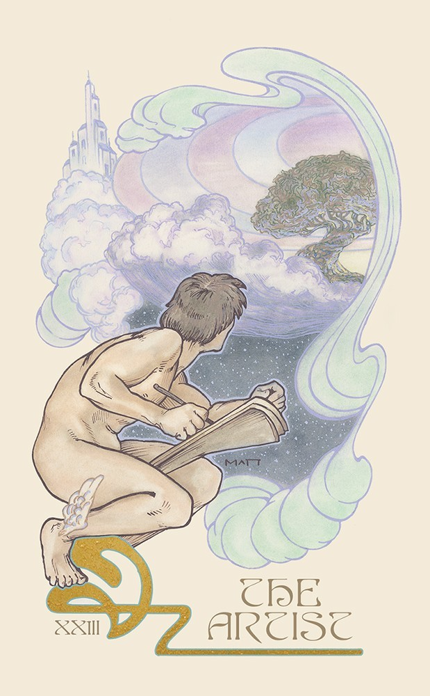 The Ethereal Visions Tarot Artist Card