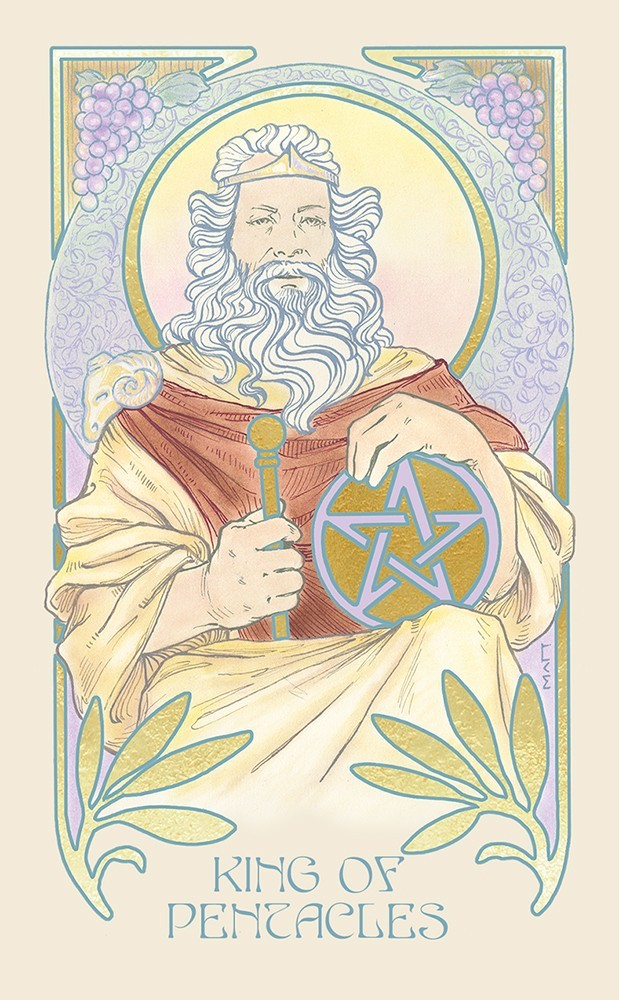 The Ethereal Visions Tarot King of Coins