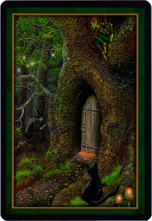 Faery Forest Oracle Card Backs