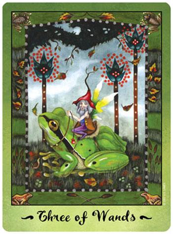 Faerie Tarot 3 of Wands