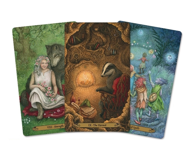 Forest of Enchantment Tarot 3 Sample Cards