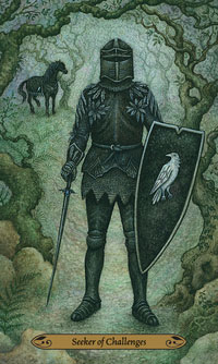 Forest of Enchantment Tarot Knight of Swords