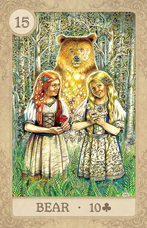 Fairy Tale Lenormand Bear Card