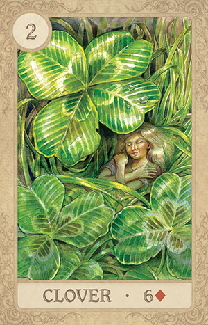 Fairy Tale Lenormand Clover Card