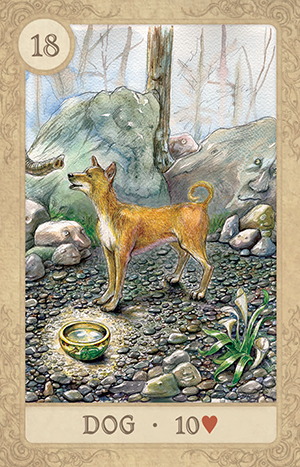 Fairy Tale Lenormand Dog Card