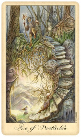Ghosts and Spirits Tarot Ace of Pentacles Card