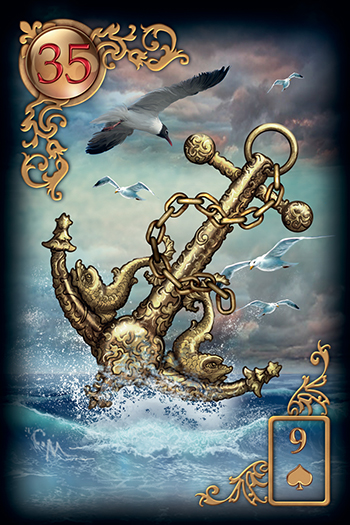 Gilded Reverie Lenormand Anchor Card