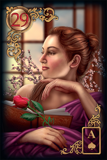 Gilded Reverie Lenormand Lady Card