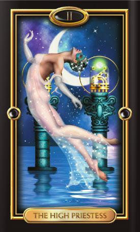 Gilded Tarot High Priestess